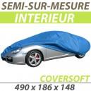 Housse intérieure semi-sur-mesure en Polypropylène COVERSOFT - Housse auto : Bache protection Mercedes 220S/SE W128 cabriolet