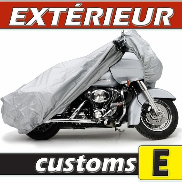 B che housse protection moto custom semi sur mesure for Bache moto exterieur