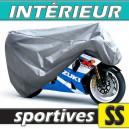 Housse moto sportive semi-sur-mesure en Polypropylène pour protection à l'intérieur (Taille SS)