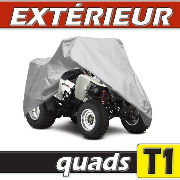 Housse protection quad taille t1 en pvc gris for Housse pour quad