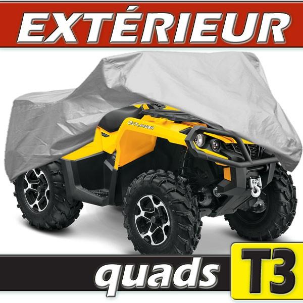 Housse protection quad taille t3 en pvc gris for Housse pour quad