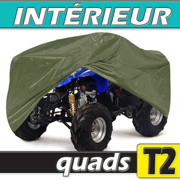 Housse protection quad taille t03 en nylon vert arm e for Housse pour quad
