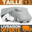 Housse protection Camping Car Taille 13 en Polyester gris 4 couches