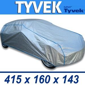 Bâche de protection voiture intérieure/extérieure semi-sur-mesure en TYVEK - 80E3/M2/ARGENT