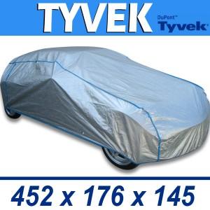 Bâche de protection voiture intérieure/extérieure semi-sur-mesure en TYVEK - 80E3/L/ARGENT