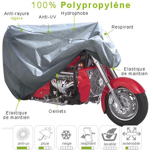 B che housse protection moto custom grosse cylindr e for Housse moto custom