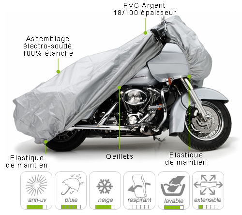 B che housse protection moto custom semi sur mesure for Housse moto custom