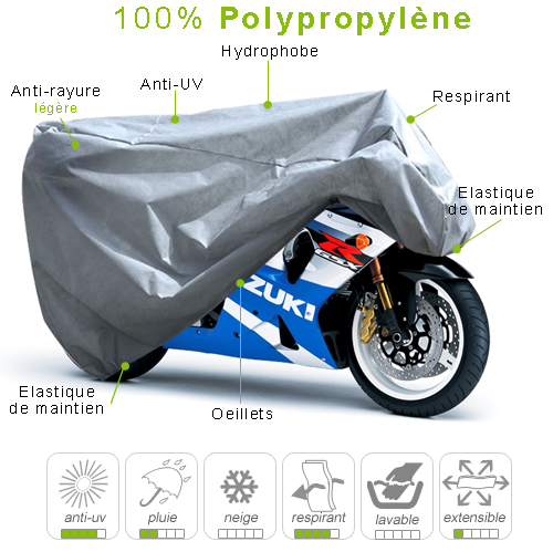 moto sportive en polypropylène