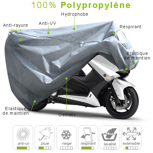 housse scooter en polypropylène