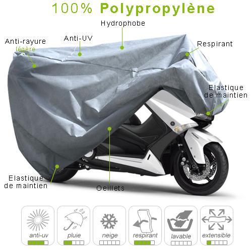 b che housse protection scooter semi sur mesure int rieur polypropyl ne taille m. Black Bedroom Furniture Sets. Home Design Ideas