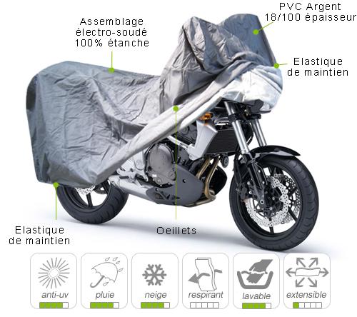 B che housse protection moto trail semi sur mesure for Bache moto exterieur