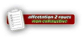 affectation des 2 roues
