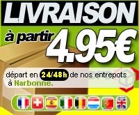 Livraison 24/48h, départ de Narbonne
